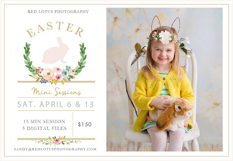 easter mini session photos spring portraits